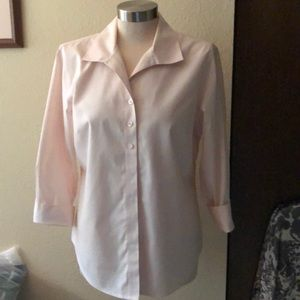 Light pink no iron blouse from Chico's.